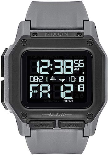 4. NIXON Regulus 29mm-24mm PU/Rubber/Silicone Band 32mm Face