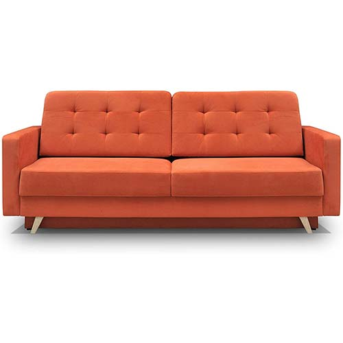 10. MEBLE FURNITURE & RUGS Vegas Futon Sofa Bed, Queen Sleeper