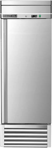 4. Maxx Cold MXSF-23FD One 1 Door Reach-In Upright Commercial NSF Stainless Steel Freezer