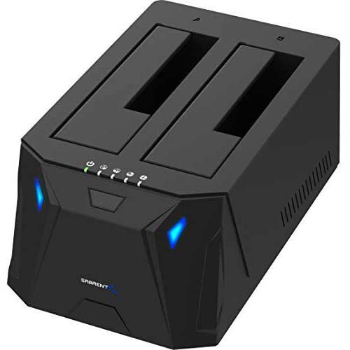 1. Sabrent USB 3.0 to SATA I/II/III Dual Bay External Hard Drive Docking Station