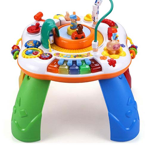 5. Baby Activity Table Education Toy - High Speed Train Standing Activity Play Table