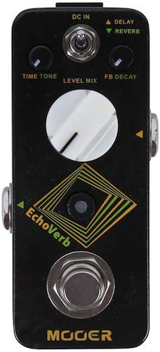 9. MOOER EchoVerb Digital Delay and Reverb Pedal