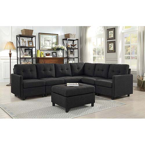 1. DAZONE Modular Sectional Sofa Assemble 7-Piece Modular Sectional Sofas Bundle Set Cushions