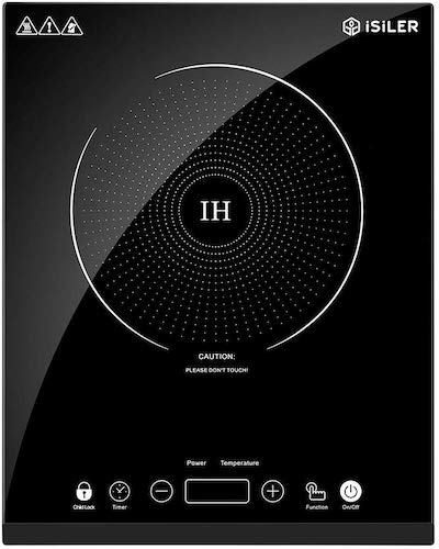 1. Portable Induction Cooktop, iSiLER 1800W Sensor Touch Electric Induction Cooker Cooktop