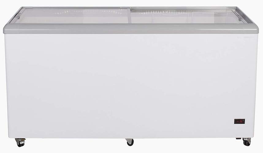 3. Chef's Exclusive CE205 Commercial Frost Free Sub Zero Mobile Ice Cream Display Chest Freezer