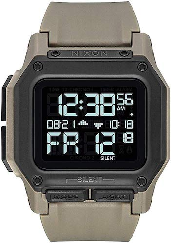 10. Nixon Unisex Adult Digital Watch with Polycarbonate Strap A1180-2711-00