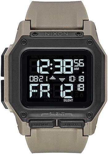 10. Nixon Unisex Adult Digital Watch with Polycarbonate Strap A1180-2711-00