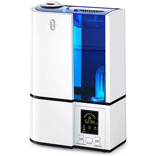1. TaoTronics Cool Mist Humidifier, 4L Ultrasonic Humidifiers for Large Bedroom Home Baby