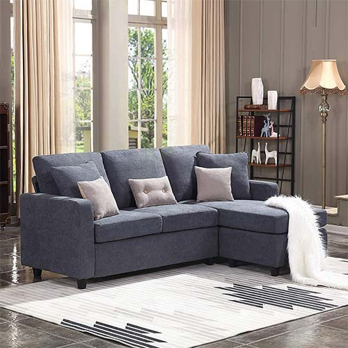 3. HONBAY Convertible Sectional Sofa Couch,