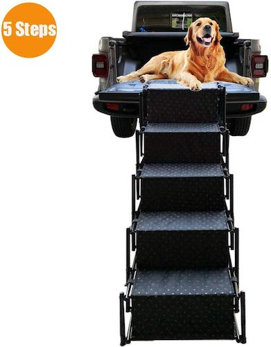 5. Upgraded Pet Dog Car Step Stairs