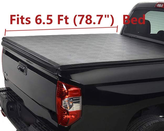 1. Deebior Clamp On Waterproof Soft Lock & Roll-up Top Mount Tonneau Cover