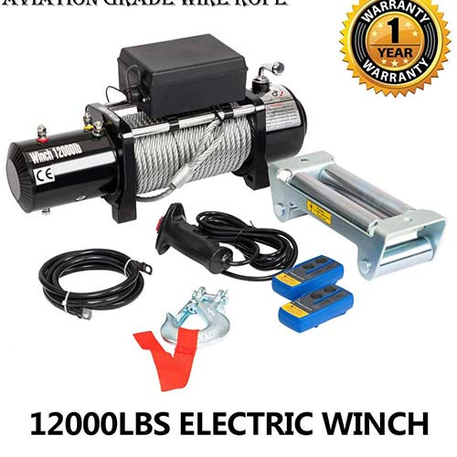 3. 12000lbs 12V Electric Recovery Winch