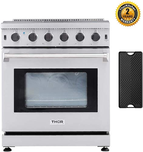 3. Thor Kitchen 30'' Gas Range, LRG3001U