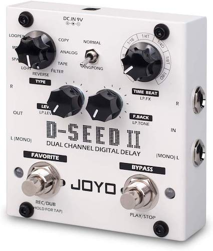 5. JOYO D-SEED-II Delay and Looper, Dual Channel Digital Delay, Guitar Floor Multi Effects Pedal