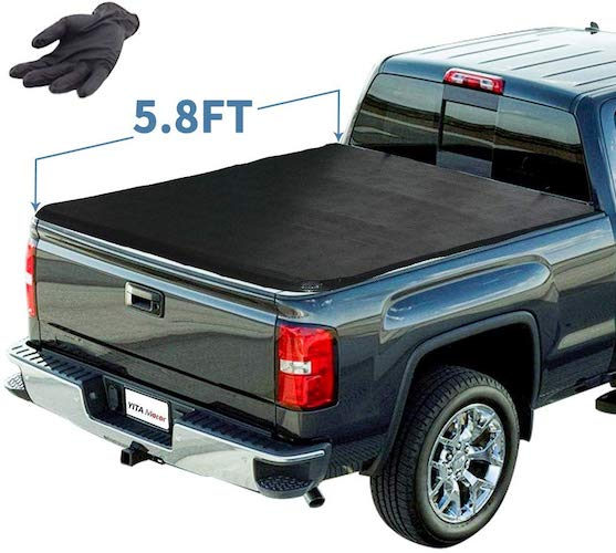 5. YITAMOTOR Soft Tri-Fold Truck Bed Tonneau Cover