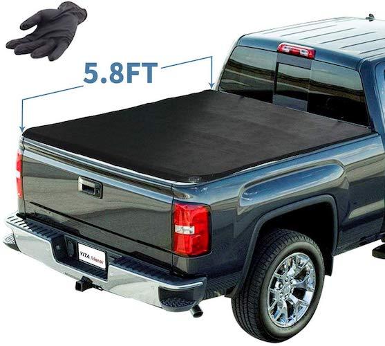 5. YITAMOTOR Soft Tri-Fold Truck Bed Tonneau Cover