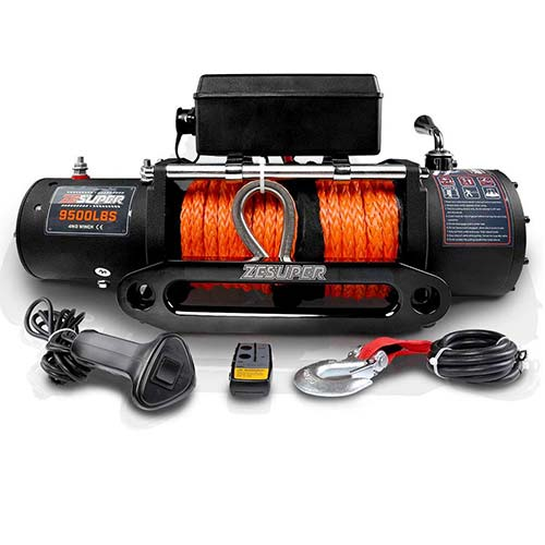 2. ZESUPER 9500-lb. Load Capacity Electric Winch Kit, Waterproof IP67 Electric Winch