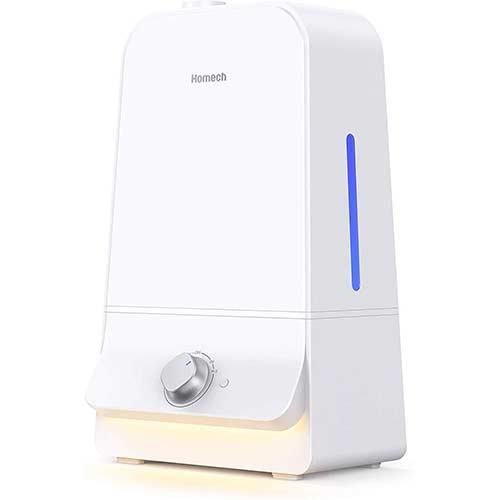 10. Homech 6L Cool Mist Humidifiers Quiet Ultrasonic Humidifier 100 Hours