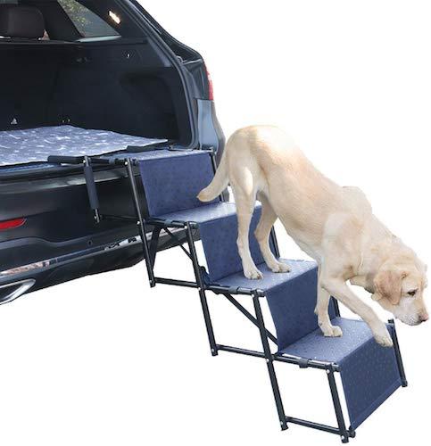 7. Upgraded Nonslip Car Dog Steps