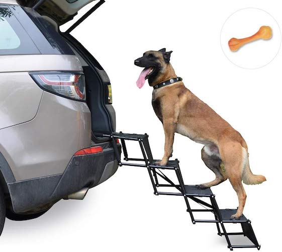 3. Upgraded Nonslip Car Dog Steps
