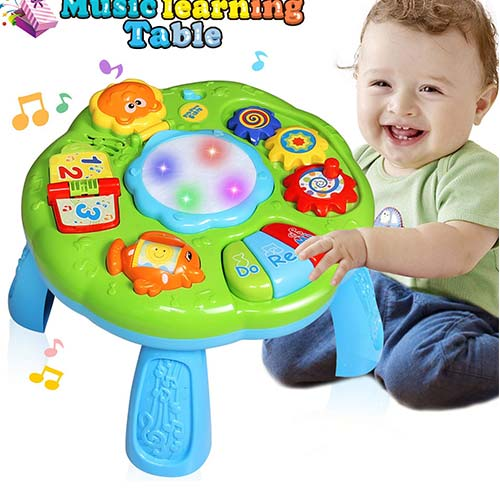 9. HOMOFY Baby Toys Musical Learning Table 6 Months Up- Early Education Activity Center Multiple Modes Game Kids Toddler Boys & Girls Toys