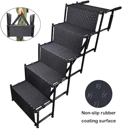6. 5 Steps YEPHHO Upgraded Folding Pet Stairs Ramp