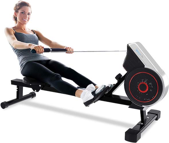 2. SereneLife Rowing Machine – Air and Magnetic Rowing Machine