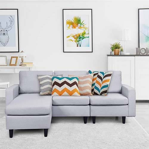 9. Giantex Convertible Sectional Sofa Couch