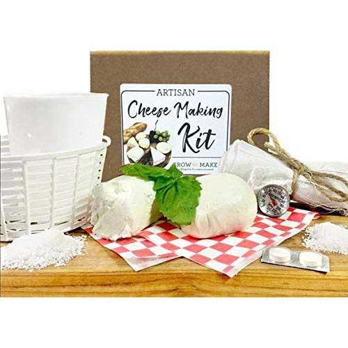 8. Grow and Make DIY Artisan Cheese Making Kit