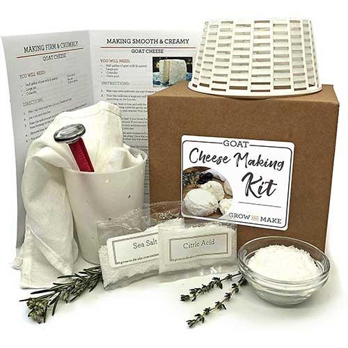 6. Grow and Make DIY Artisan Goat Chevre Making Kit