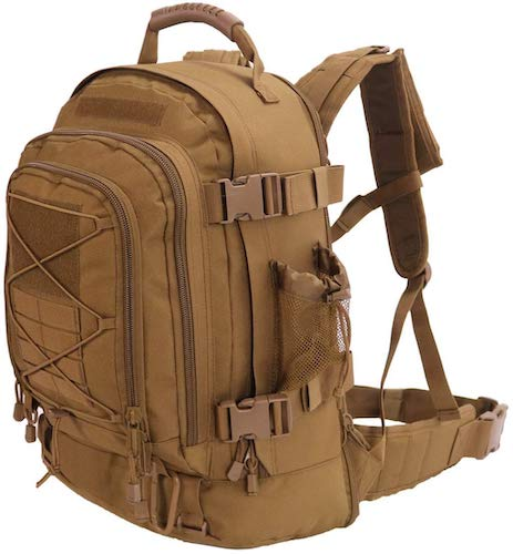 6. Outdoor 3 Day Expandable 40-64L Backpack Military Tactical Hiking Bug Out Bag