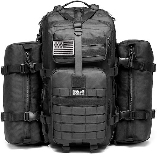 9. CRAZY ANTS Military Tactical Backpack Waterproof Outdoor Gear