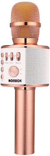 3. BONAOK Wireless Bluetooth Karaoke Microphone