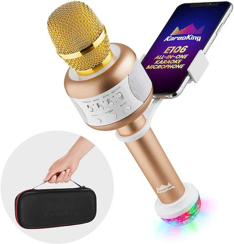 8. KaraoKing Wireless Compatible with Bluetooth Karaoke Microphone