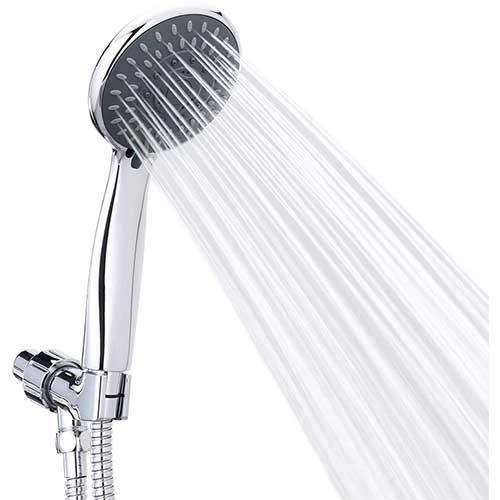 7. Handheld Shower Head High Pressure 5 Spray Settings Massage Spa Detachable Hand Held Showerhead