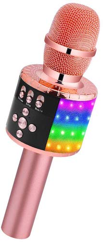 2. BONAOK Wireless Bluetooth Karaoke Microphone