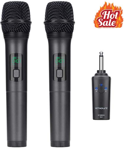 6. Kithouse K380A Wireless Microphone Karaoke Microphone Wireless Mic