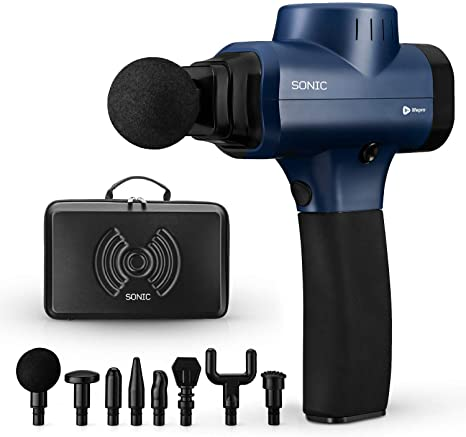 3. Sonic Handheld Percussion Massage Gun - Deep Tissue Massager for Sore Muscle and Stiffness
