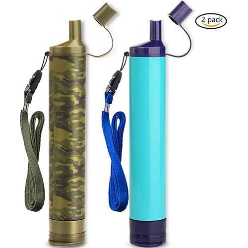 9. WakiWaki Straw Filter, Straw Water Filter, Hiking Water Purifier, Camping Straw Filter