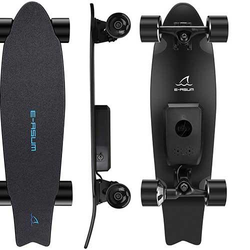 5. E-ASUM AS01 Electric Skateboard, 350W Hub-Motor Skateboards
