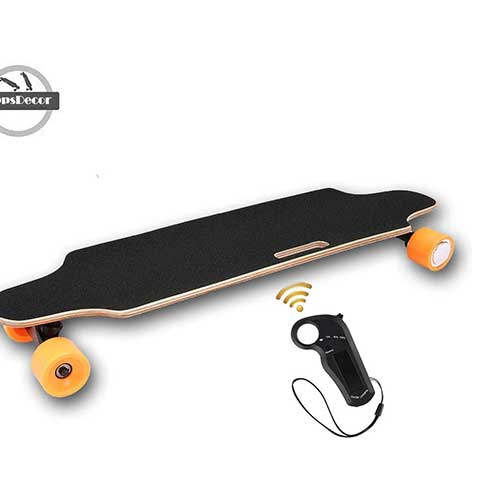 2. OppsDecor Electric Skateboard with Wireless Remote Control