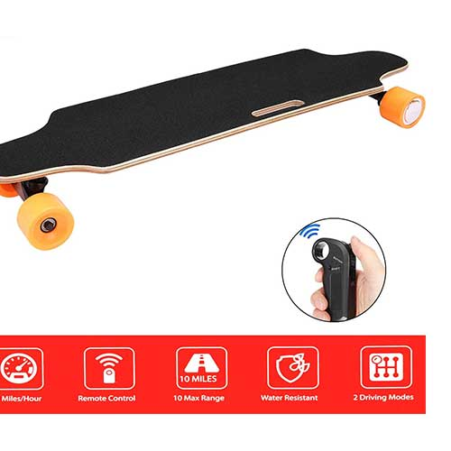 6. Aceshin Electric Skateboard Longboard with Remote Small for Kids Teens