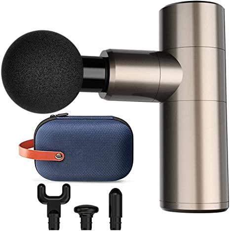 6. 2020 Upgated Mini Massage Gun, 4 Speeds Portable Handheld Percussion Muscle Massager Gun for Pain Relief, Super Quiet