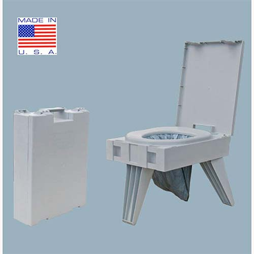 8. Cleanwaste Portable Toilet w/ 1 Waste Kit (D119PET)