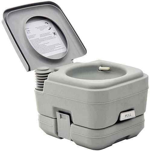 9. HomCom Portable Travel Camping Toilet Outdoor Hiking