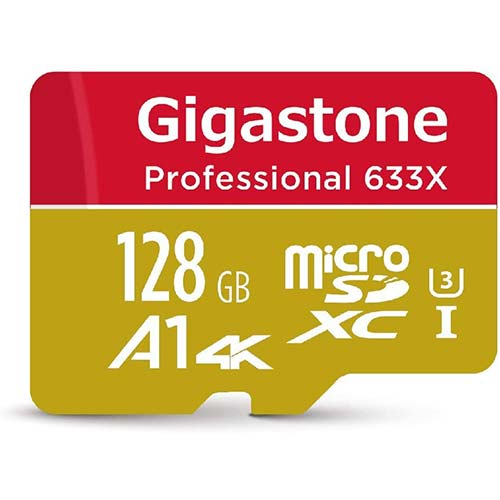 4. Gigastone 128GB Micro SD Card, Professional 4K Ultra HD, High speed 4K UHD gaming, Micro SDXC UHS-I U3 C10 Class 10 Memory Card with Adapter