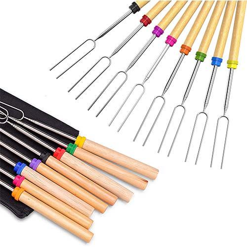 6. Roasting Sticks, Ezire Marshmallow Roasting Sticks