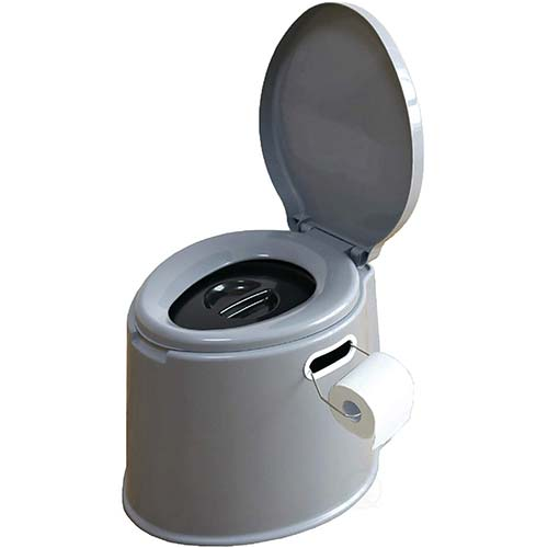 10. Basicwise Portable Travel Toilet for Camping and Hiking