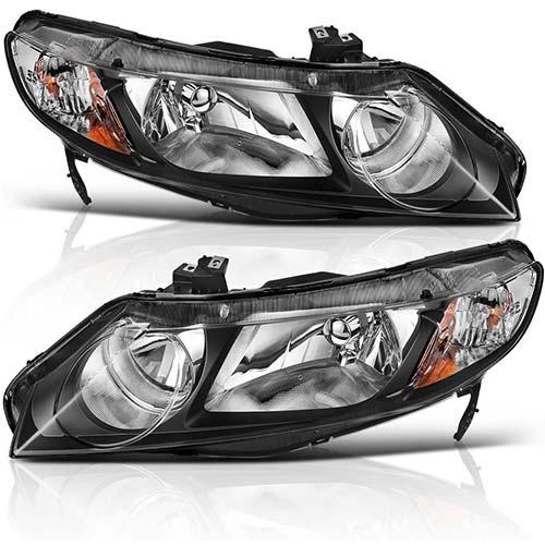 2. AUTOSAVER88 Headlight Assembly for 06 07 08 09 10 11 Honda Civic