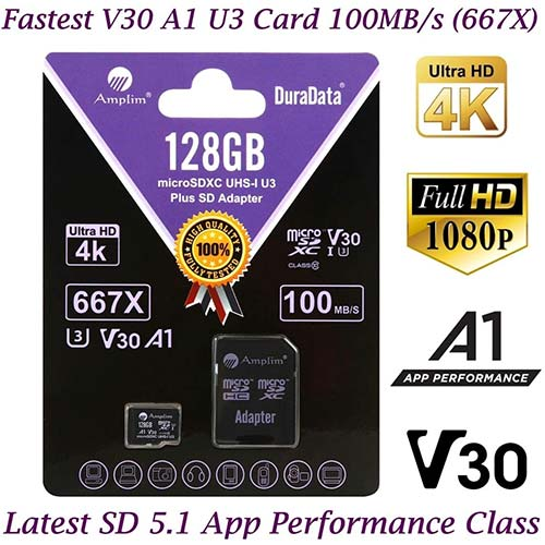 6. 128GB Micro SD Card plus Adapter Pack